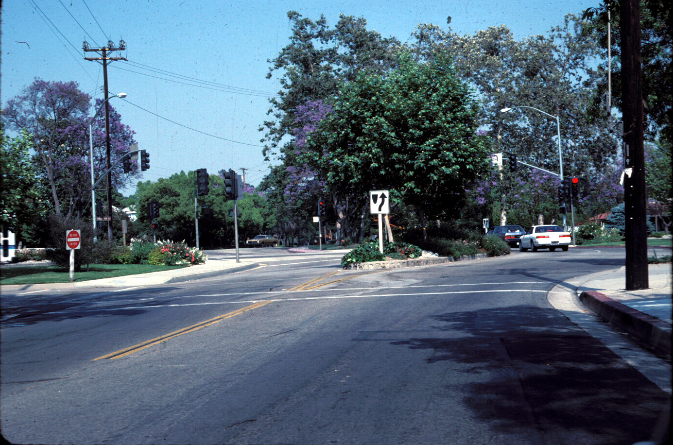 Claremont California traffic slowing diverter
