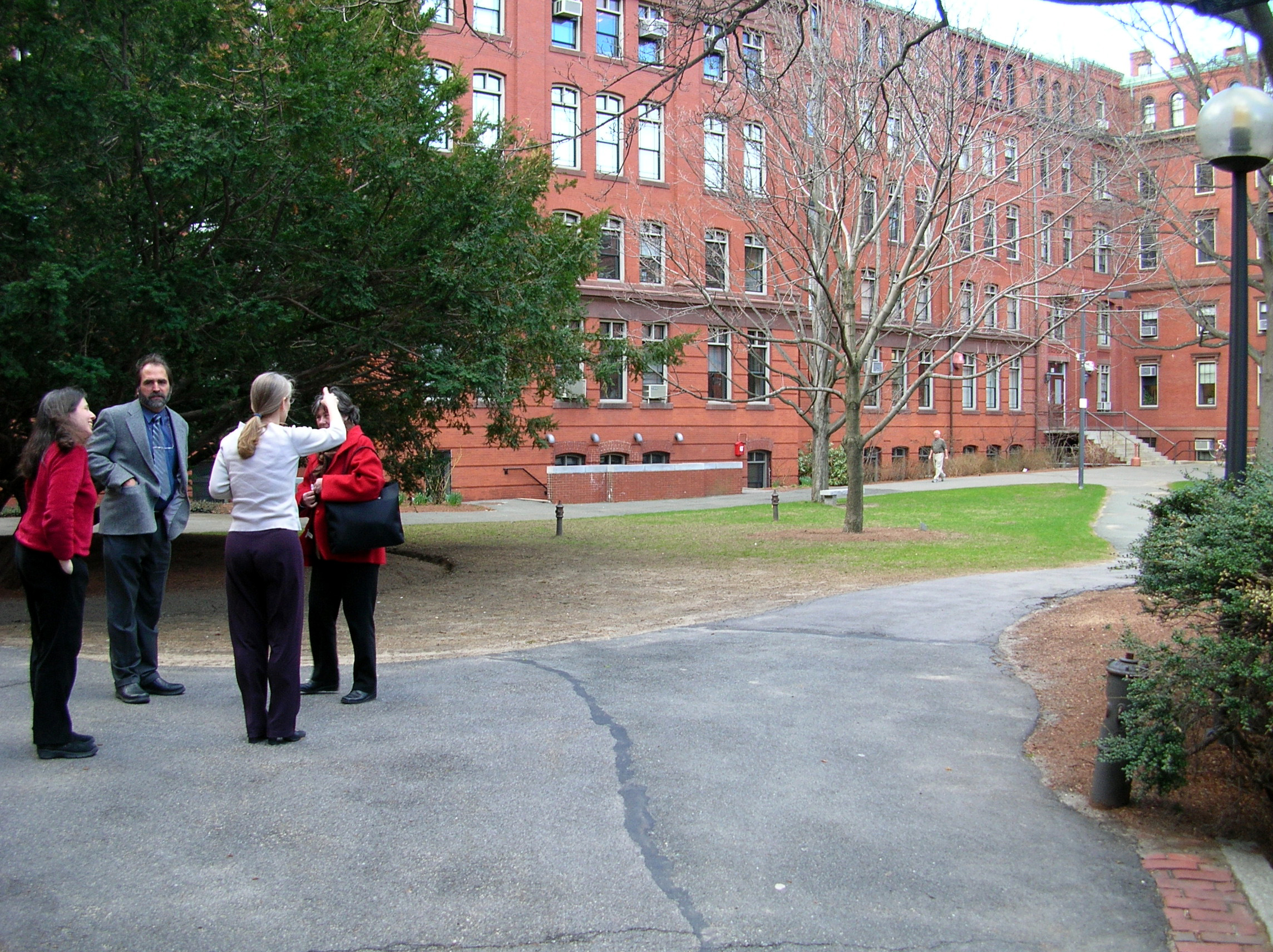 Workshop participants observe an area of the North Campus.