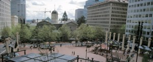 PPS's work with Pioneer Courthouse Square included efforts to connect the Courthouse to the Square.