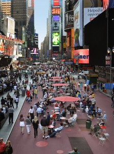 Times Square Pedestrian Plaza. Photo Credit: NYC DOT