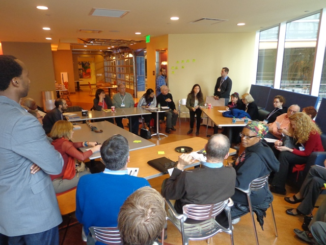 A break-out group discusses Placemaking in low-income communities at the inaugural PLC meeting in Detroit / Photo: PPS