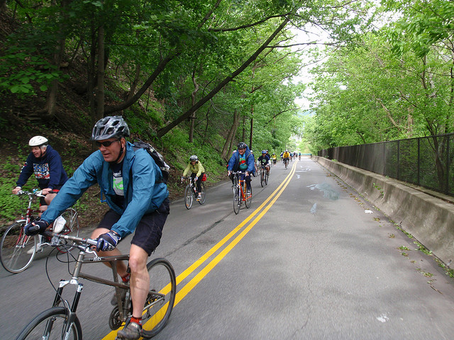 The city's many biking and walking trails run through ravines and along rivers, providing a relaxing retreat from bustling streets / Photo: pghmtb vic Flickr
