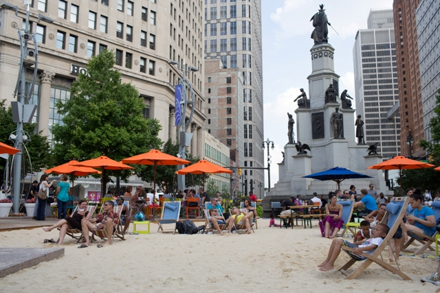 The Beach at Campus Martius in full swing (Photo: PPS)