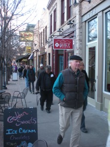 Golden, Colorado's small businesses benefit from having shoppers on their feet, walking down consistently active and pedestrian friendly streets.