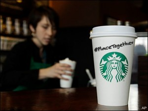 starbucks cup hashtag