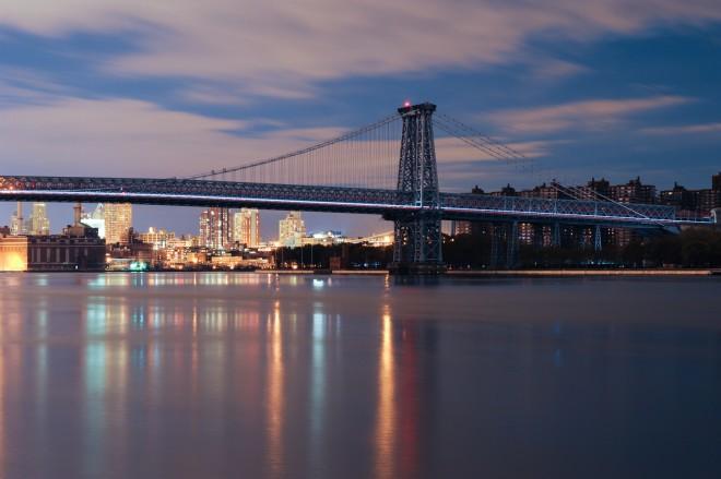 Williamsburg Bridge, Hurricane Sandy | Photo by Reeve Jolliffe