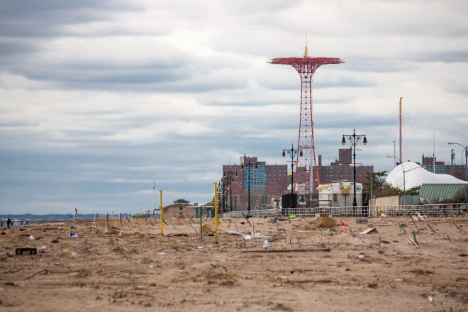 Coney Island after Hurricane Sandy | Photo by drpavlov, Flickr Creative Commons