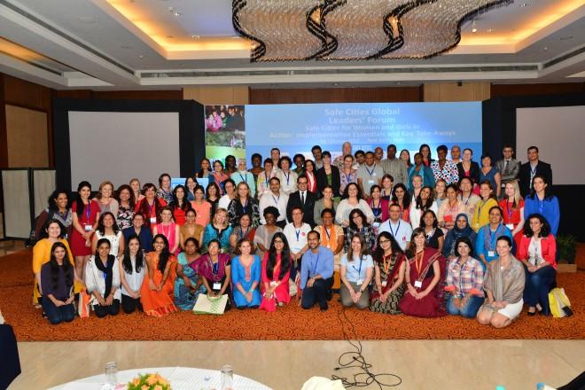 Participants in the UN Women Safe Cities Global Leaders' Forum | Photo by UN Women, via Flickr