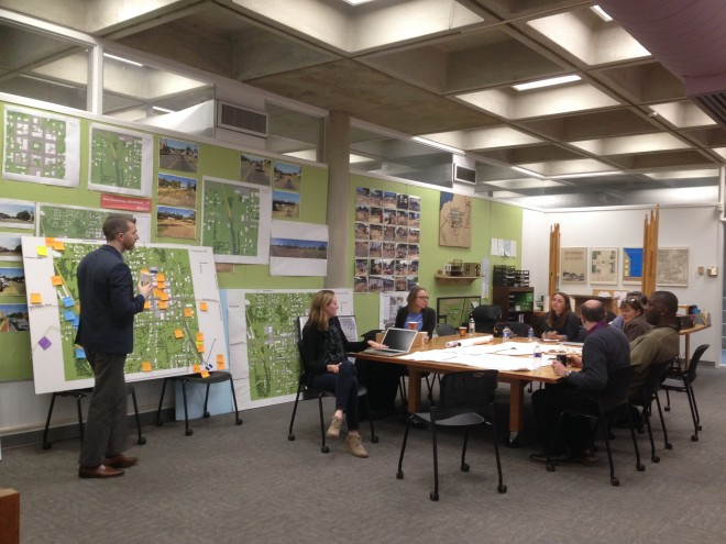 """Breakout sessions at the 2015 workshop in Houston, MS encouraged community members to imagine possibile ways to connect the tanglefoot trail to downtown Houston."" 