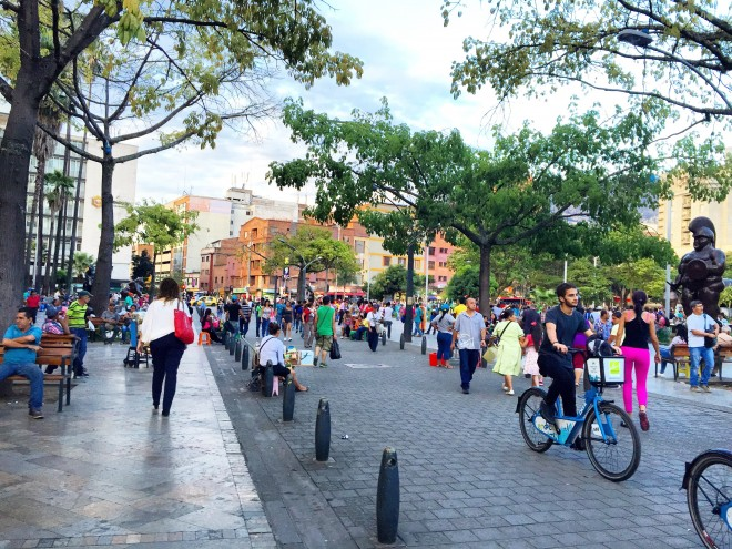 A great public space, like Old Town in Medellin, has a wide variety of things to do | Photo by PPS