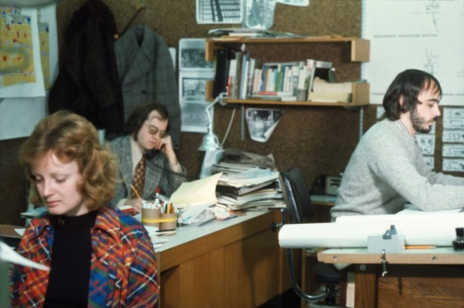 City of Toronto staff believed to be working in one of the Neighborhood Planning Offices in the early 1970s. City of Toronto Archives, Series 1465, File 313, Item 6.