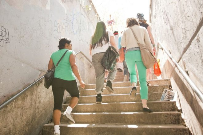 Jane's Walk participants in Toronto (Credit: Jane's Walk)