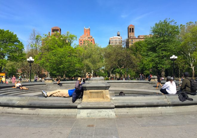 Frequented Place Game site: New York's Washington Square Park - Image by Juliet Kahne