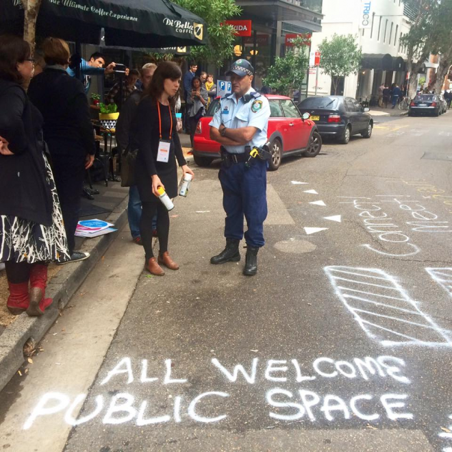 Australian Placemaker Lucinda Hartley I was almost arrested for drawing chalk on the pavement recently in a completely sanctioned council chalking activity. Placemaking is strengthened by citizen-led activity but requires collaborative relationships and trust between councils, authorities and communities.