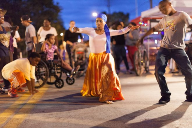 Victorian Bridge Haitian dance performance by Afoutayi Music & Dance Company Photo by Jon Pavlica