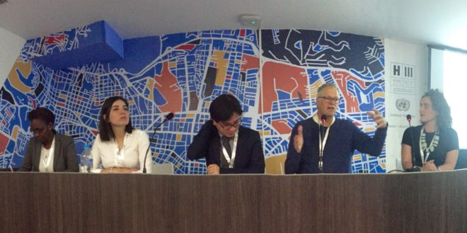 PPS Founder Fred Kent speaks at Habitat III in Quito, Ecuador | Photo by Ethan Kent
